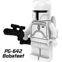 White Boba Fett Vintage Star Wars Minifigure - Lego KW