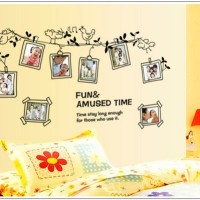 Bird Tree Frame Foto AY9136 - Stiker Dinding / Wall Sticker (60x90)