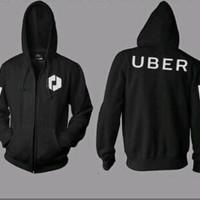 jaket uber, sweater uber, hoodie uber, uber online indonesia