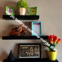 Hiasan Rumah Rak Dinding 1 Set 3 Pc uk @ Panjang 50,40,30 Lebar 10 cm