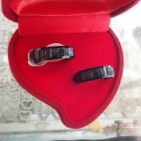 CINCIN COUPLE TITANIUM SEPASANG + UKIR NAMA LUAR + BOX