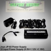 Power Supply untuk Stompbox Efek gitar Joyo JF-02 10 input 9V 12V 18V