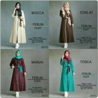 Ferlin Coat / dress muslimah / gamis murah / baju musli Limited