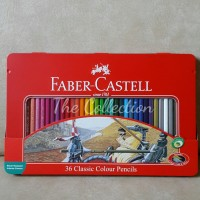 ATK0110FC (36warna Kaleng Classic Pencil 115846 Faber Castell Tin Case