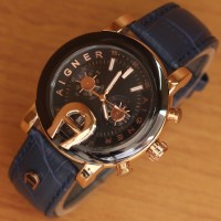 Jam Tangan Wanita Aigner Blue Leather Kw Super Murah