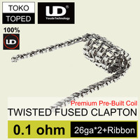 Jual Authentic UD Twisted Fused Clapton SS Coil 0.1 ohm | Stainless Steel Murah
