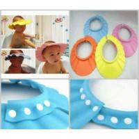 Topi Keramas anak kancing - snap pengatur topi mandi anak
