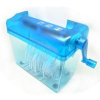 Hand Operated Paper CD Card Shredder / Penghancur Kertas Manual - Blue