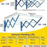 Jemuran Dinding Lipat Fortuna JD-150