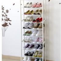 Amazing Shoes rack 10tingkat (Rak Sepatu ajaib) WHITE