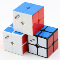 Rubik 2x2 Qiyi Cavs 2x2 Speed Cube Black / White / Stickerless