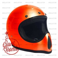 Helm Cakil Vespa Motocross Replika Bell Moto3 moto4 moto 3/4 Orange