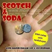 Gimmick Alat Sulap Koin Scotch and Soda 500 & 100 Coin Magic Trick
