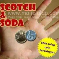 Gimmick Alat Sulap Koin Scotch And Soda 1000 & 100 Coin Magic Trick