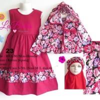 harga Baju Gamis Anak Labella (Usia 3 - 6th) REG302MIX-Hoodie Merah No.23 Tokopedia.com