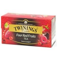 Twinings Four Red Fruits Tea 50gr Sachet - Teh Import Rasa 4 Buah