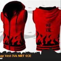 Jaket Rompi Yondaime Merah Vest Naruto Api
