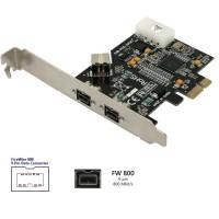 FIREWIRE 800 IEEE 1394B PCI-EXPRESS 3 port 9 pin
