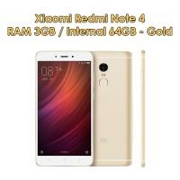 Jual Xiaomi Redmi Note 4 3/64 - Gold - Baru NEW - GRS Distributor Murah