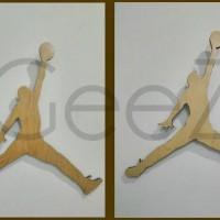 Jual Logo Air Jordan dari kayu ( nike, adidas, reebox dll. ) hiasan dinding Murah