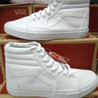 Sepatu Vans Sk8 full White/Putih Hi Waffle Premium Quality