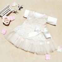 harga Dress / gaun pesta impor bayi perempuan renda pita putih Tokopedia.com