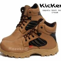 Jual Sepatu Boots Kickers Krem Murah