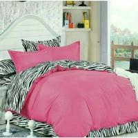 sprei zebra-pink polos 120*200
