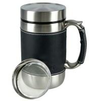 Jual SHUMA 600 Leather Mug Termos Stainless - Air Panas, Dingin, Teh, Kopi Murah