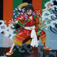 Figure One Piece Monkey D Luffy Kabuki Edition ORI POP Megahouse