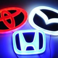 Emblem Mobil Car Logo Nyala Lampu LED Honda Toyota Mitsubishi Blue l