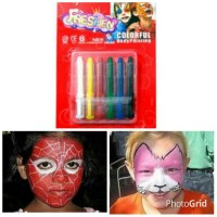 Jual MINGDA FACE BODY PAINT HALLOWEEN DECOR Murah