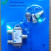Spliter 2 WAY Kabel Antena TV/ Splitter Pembagi Sinyal 2 Cabang Output