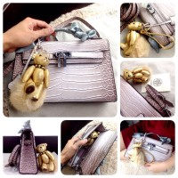 tas HERMES Himalayan Kpochette Shw with Bear Gold Charm 2009