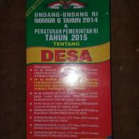 Undang-undang RI Nomer 6 Peraturan pemerintah tentang Desa