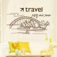 ... harga Sydney Opera House JM8346 - Stiker Dinding / Wall Sticker (50x70) Tokopedia.