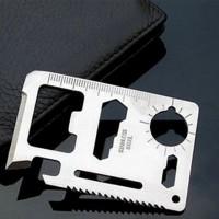 Penggaris Besi Kartu MultiFungsi / Tool Card Emergency Camping - X369