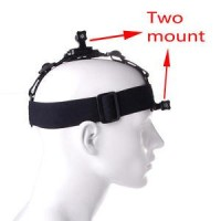 HEAD STRAP DOUBLE FOR ACTION CAMERA (GOPRO/XIAOMI YI/BRICA/SJCAM/ISAW)