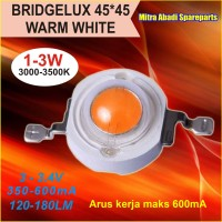 HPL 3W / High Power LED 3 Watt 45X45 Bridgelux Warm White