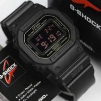 Jam pria G shock DW5600MS-1DR black rubber original garansi 1 THN