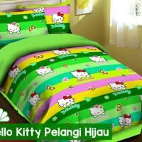 harga Sprei Katun Fortuna Hello Kitty Pelangi Hijau Ukuran 120x200 Tokopedia.com