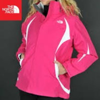 The North Face (TNF) Kira Triclimate Jacket - Size M Pink