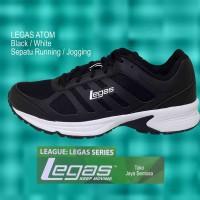 Sepatu Running, Sepatu Sekolah LEGAS ATOM Black/White