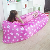 Jual Inflatable LazyBag/Laybag For Outdoor/Indoor - PINK PAW Murah