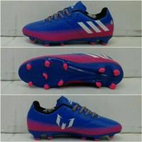 Sepatu Bola Adidas Messi.16 Biru-Pink list Putih Grade Ori