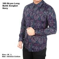 harga kemeja batik pria songket biru keren gaya trendy nyaman adem Tokopedia.com