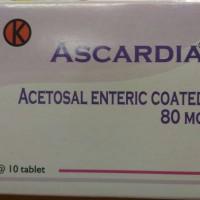 ASCARDIA Acetosal Enteric Coated 80 mg/ Box
