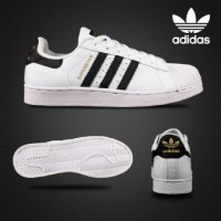 SEPATU ADIDAS SUPERSTAR WOMEN PUTIH HITAM MADE IN VIETNAM 100% IMPORT