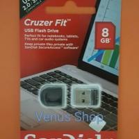 SANDISK USB FLASH 8GB CRUZER FIT CZ33 / MEMORY USB 8 GB CZ 33 ORIGINAL