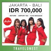 Tiket Pesawat Promo AirAsia Jakarta - Bali | PP - Bagasi 15kg - Tax